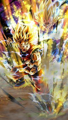 Dragon 🐉 Ball Z: Goku vs Majin Vegeta Dragon Ball Gt, Dragon Ball Image, Wallpaper Animes, Goku Wallpaper, Cool Anime Pictures, Dragon Pictures, Dbz Wallpapers, Manga Dragon, Goku Vs