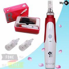 MyM Micronadel Derma Pen elektrisch inkl. 2 Aufsätze - Anti-Aging, Cellulite NEU