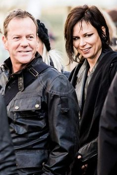 Kiefer Sutherland and Mary Lynn Rajskub on the set of 24: Live Another Day #24LAD