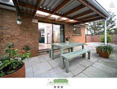 DeKeurboom Self-Catering Townhouses for Rent in Cape Town Townhouse For Rent, Cape Town, Catering, Houses, Patio, Sign, Outdoor Decor, Green, Room