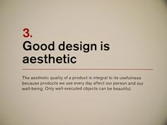 3. Dieter Rams: Principles for Good Design