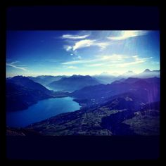 View from Niesen, Canton of Bern, Switzerland