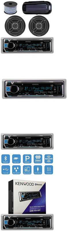 Marine Audio: Kenwood Kmrm315bt Marine Bluetooth Receiver W Cover, 2X 6.5 Stereo Speakers -> BUY IT NOW ONLY: $147.49 on eBay!
