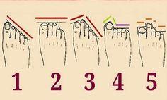 Узнайте о своем характере по форме пальцев на ваших ногах