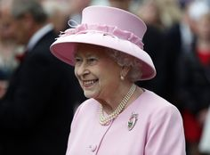 Queen Elizabeth, May 30, 2013. Summer garden party. I love this shade of pink on her.