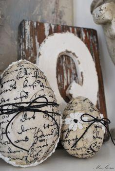 Papier Mache Eggs