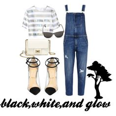 black,white, and glow by armiie on Polyvore