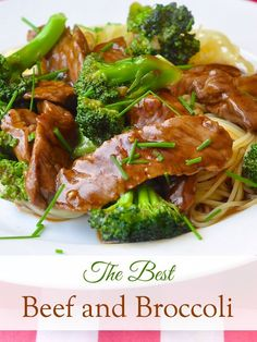 Beef and Broccoli with noodles or rice is one of our family's go-to dishes for a quick, delicious and nutritious workday meal. Ready in only 25 minutes!