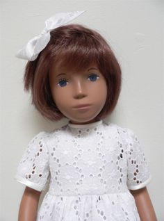 Broderie anglais dress with satin binding for Sasha doll by chirnside on eBay