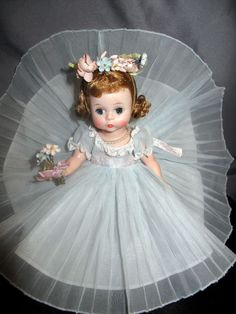 Alexander-kins 1959 Blue Bridesmaid Doll in Outfit  Tagged