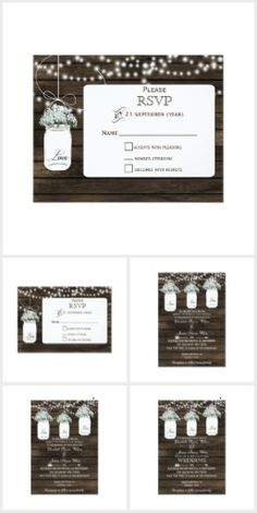 Barnwood babys breath mason jar Wedding Collection