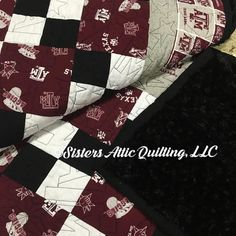 Texas A&M Aggies quilt ready for a graduation gift!