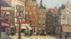 Rembrandtplein door Agatha Zethraeus, ca. 1911