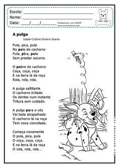 Alfabetizar com AMOR: A PULGA - EM UM DIVERTIDO TEXTO E ATIVIDADES EM DOIS TIPOS DE LETRAS - 1º ANO/2º ANO