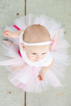 baby girl's first birthday, butterfly and tutu