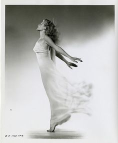 Like a figure-head on an imaginary ship, she rides in our memories as a goddess of pure emotions (Rita Hayworth).