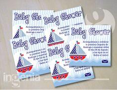 Muestra de invitación para baby shower de niño. Para más muestras, agréganos. www.facebook.com/ingenia.disenografico