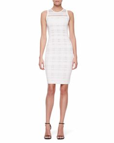 Sleeveless Transparent Sheath Dress, White by Narciso Rodriguez at Neiman Marcus.