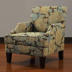 @Overstock - Add additional seating to your living room with this elegant floral club chair. The light blue, brown and beige floral design adds a splash of color to your room. The clean lines of the chair complement rooms with a modern dÕ©cor.http://www.overstock.com/Home-Garden/Emmanual-Club-Chair/6432878/product.html?CID=214117 $310.49