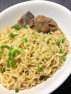 ぬう太郎's dish photo サバ缶ラーメン  byサッポロ一番醤油 | http://snapdish.co #SnapDish #レシピ #朝ご飯 #ラーメン