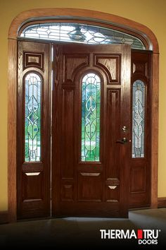 Therma tru classic craft mahogany collection fiberglass for Mahogany door skin