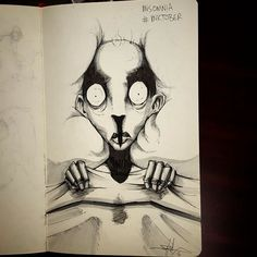 Insomnia – Illustrated Mental Illness And Disorders For Inktober
