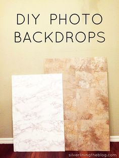 DIY Photo Backdrops