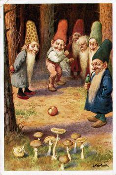 How gnomes bowl.