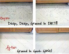 Cant wait to finally get my kitchen stains out. i wonder if it works on the tile grout lines in the bathroom? hmmm