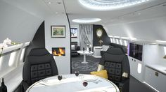 Discover this interior design tips from some of the most luxurious private plane interior designs from Air Jet Designs. Jets Privés De Luxe, Luxury Jets, Luxury Private Jets, Private Plane, Private Jet Interior, Luxury Interior, Room Interior, Interior Concept, Interior Design Tips