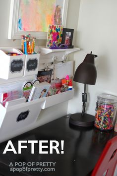 How to organize a kids art station (using a Martha Stewart wall manager) | A Pop of Pretty: Canadian Decorating Blog
