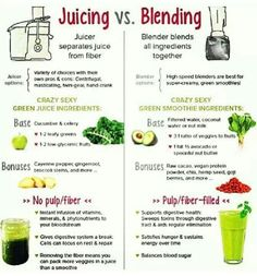 Juicing vs Blending