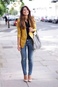 The Golden Blazer or combine with navy blue