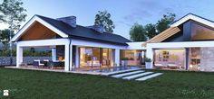 Dom parterowy z dużymi przeszkleniami - zdjęcie od TissuArchitecture - Domy - Styl Nowoczesny - TissuArchitecture