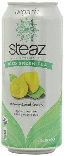 Steaz Organic Iced Teaz, Green Tea with Lemon (Unsweetened), 16-Ounce Cans, 12-Count Steaz,http://www.amazon.com/dp/B001HTE5GS/ref=cm_sw_r_pi_dp_dKW8sb0GR5QPGFPF