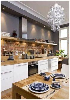 50 Best Kitchen Cabinets Design Ideas To Inspiring Your Kitchen 40 kitchen Best Kitchen Cabinets, Kitchen Cabinet Design, Interior Design Kitchen, Kitchen Countertops, Gray Cabinets, Kitchen Flooring, Kitchen Backsplash, Home Interior, Kitchen On A Budget
