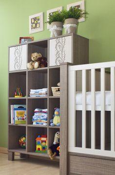 Holly Wide cabinet with shelves / Holly polcos széles szekrény Cot, Shelving, Cabinet, Home Decor, Crib Bedding, Shelves, Clothes Stand, Decoration Home, Room Decor