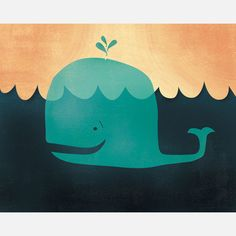 Lil' Whale Print 10x8 design inspiration on Fab.