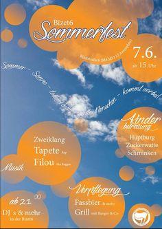 07.06.04 Am Samstag feiert die Bizet6 Sommerfest in Berlin-Weißensee. Mein Konzert beginnt um 17:00Uhr. Info & Flyer: http://www.tapeteberlin.de/events/169/berlin-bizet-9