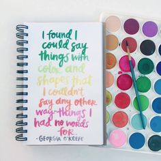 Georgia O'Keefe quote :: lettering by Amy Tangerine