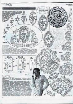Irish crochet &: Джемпер ирландским кружевом