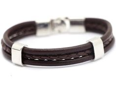 foto de pulseiras masculinas em couro e cordão - Pesquisa Google