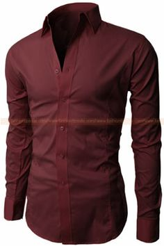camisa vinotinto slim fit CS32