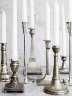 antique candlestick collection