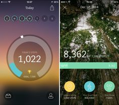 The best Health & Fitness apps of 2014 Walking App, Walking Exercise, Fitness Tracker App, Health And Fitness Apps, Fitness Photos, Ui Inspiration, Mobile Design, Mobile Ui, Fun Workouts
