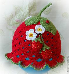 Crochet Bird Patterns, Crochet Baby Dress Pattern, Crochet Cap, Crochet Beanie, Hand Crochet, Crochet Kids Hats, Crochet Girls, Crochet Baby Clothes, Baby Knitting