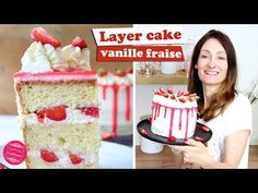 Angel cake with lemon - HQ Recipes Vanilla Layer Cake Recipe, Layer Cake Recipes, Vanilla Cake, Pastry Recipes, Cookbook Recipes, Gourmet Recipes, Fresco, Chocolate Angel, Cupcake Mold