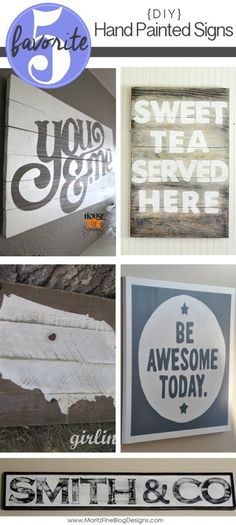 diy hand painted signs