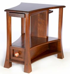 Curved Walnut Side Table | General Finishes Design Center