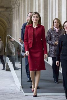 Pin for Later: The Best Photos of the Spanish Royal Family This Year So Far  Queen Letizia at The Royal Palace.